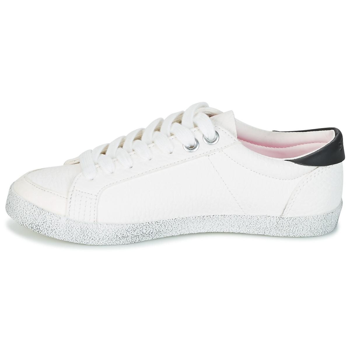 Superdry Synthetic Super Sleek Logo Lo Women's Shoes (trainers) In White