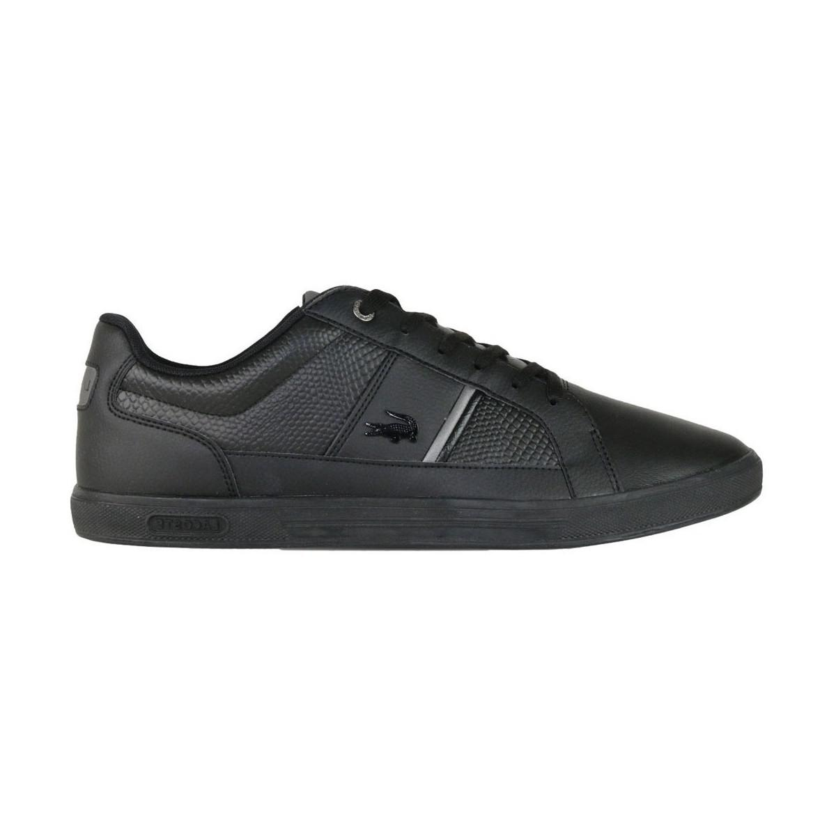 69d223b118f82f Lacoste Europa 417 Spm Blk Men s Shoes (trainers) In Grey in Gray ...