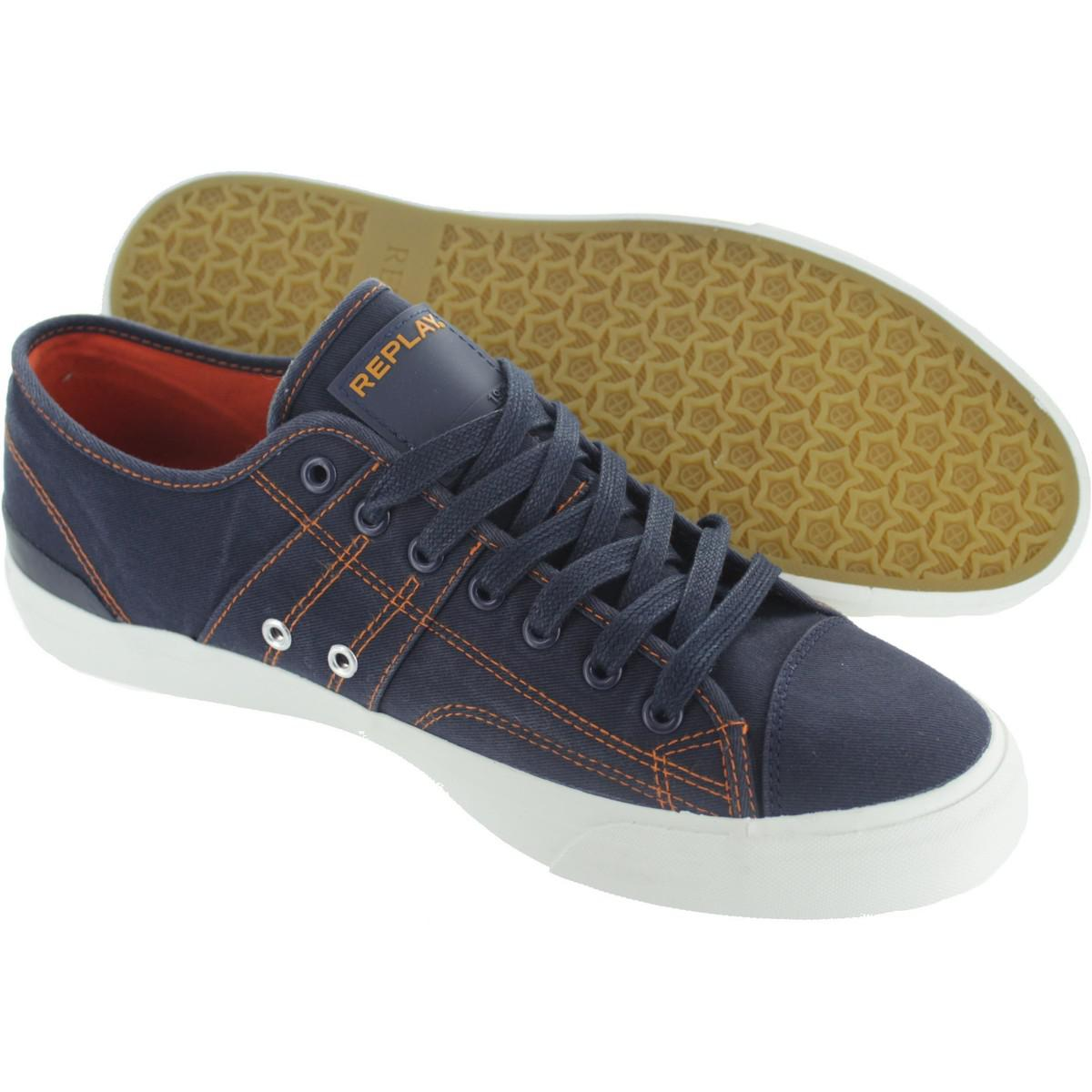 Replay Maple Men's Shoes (trainers) In Blue for Men