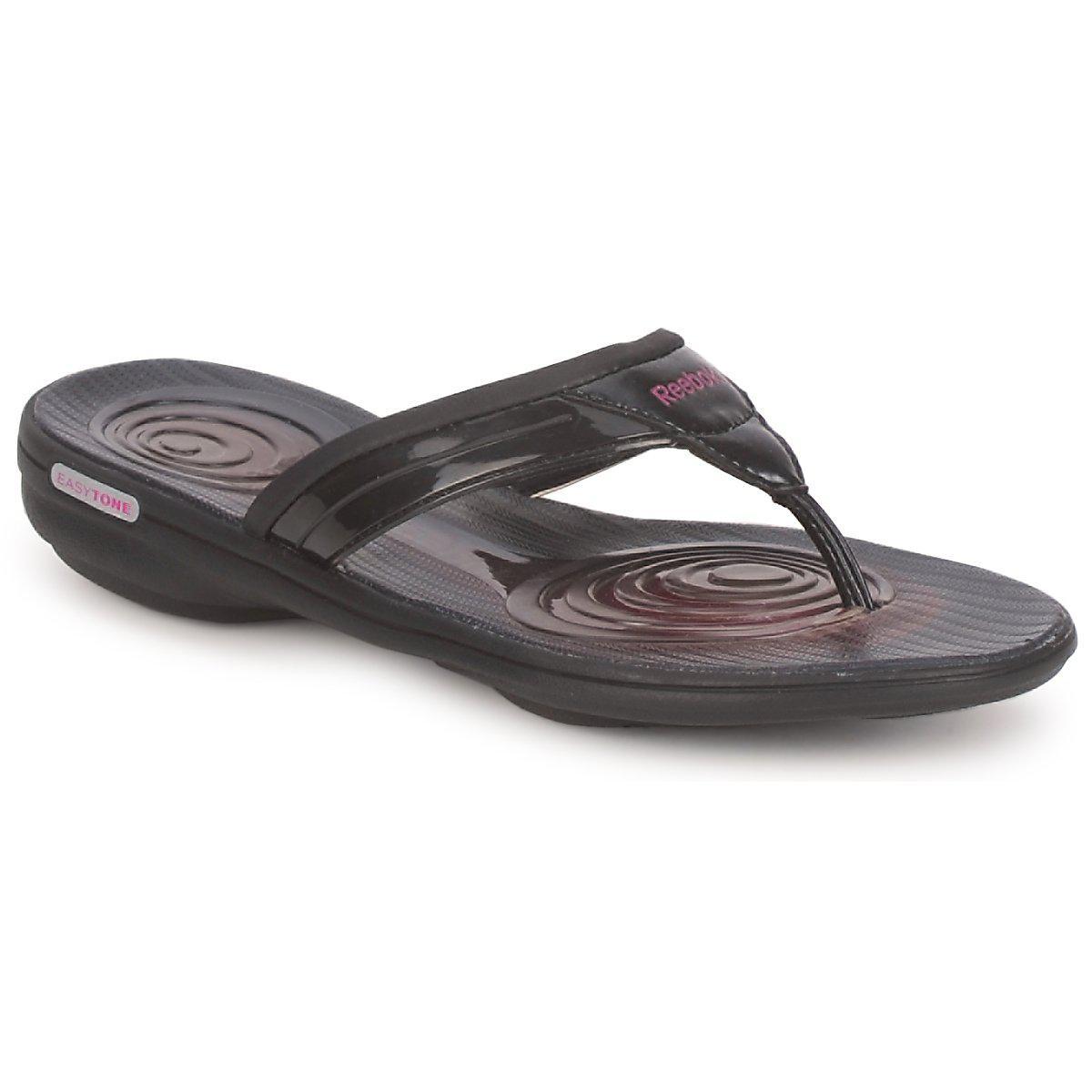 Reebok. Women s Black Easytone Plus Flip Flip Flops   Sandals (shoes) 6d6a06a37