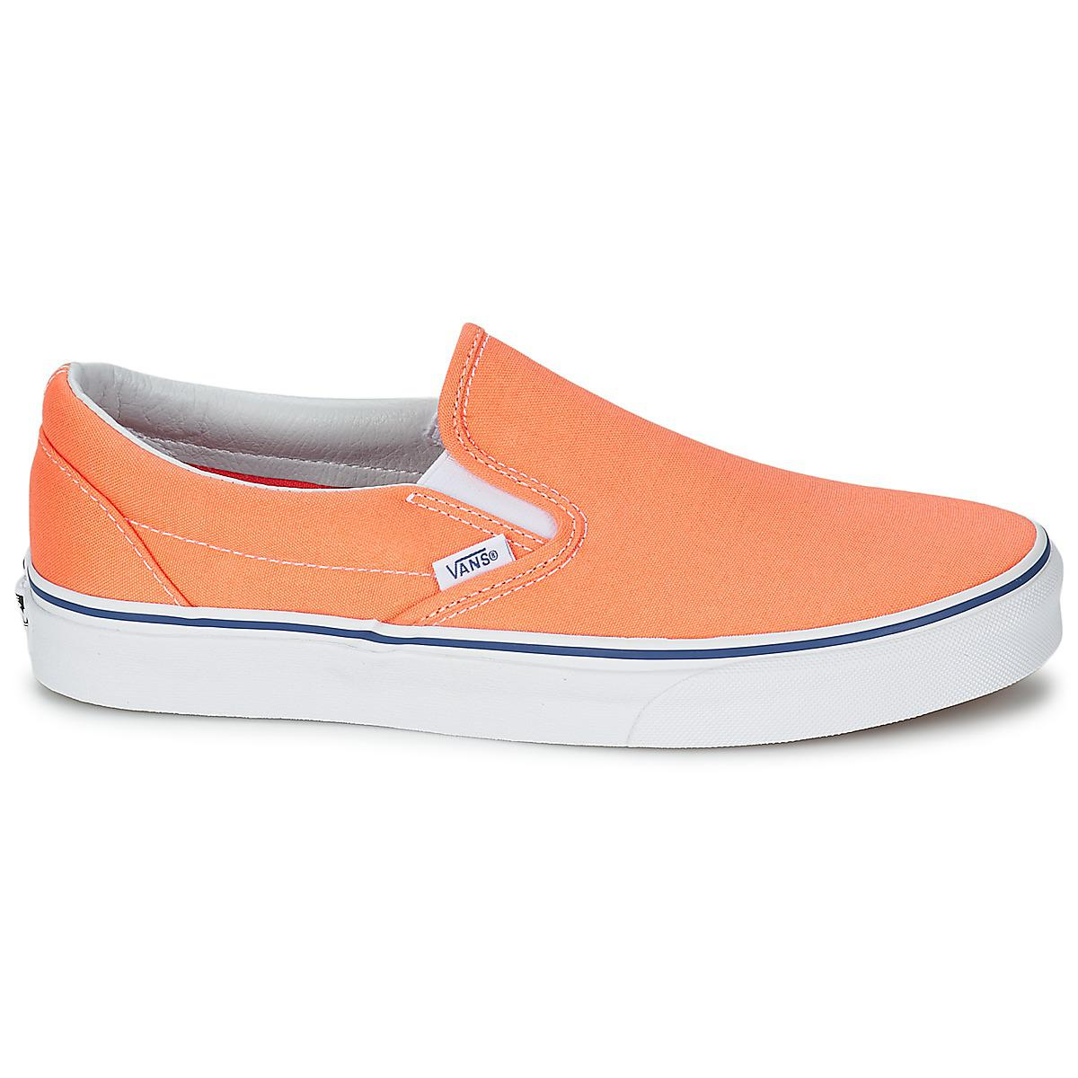 f00b85de7d290b Vans Classic Slip-on Women s Slip-ons (shoes) In Orange in Orange - Lyst