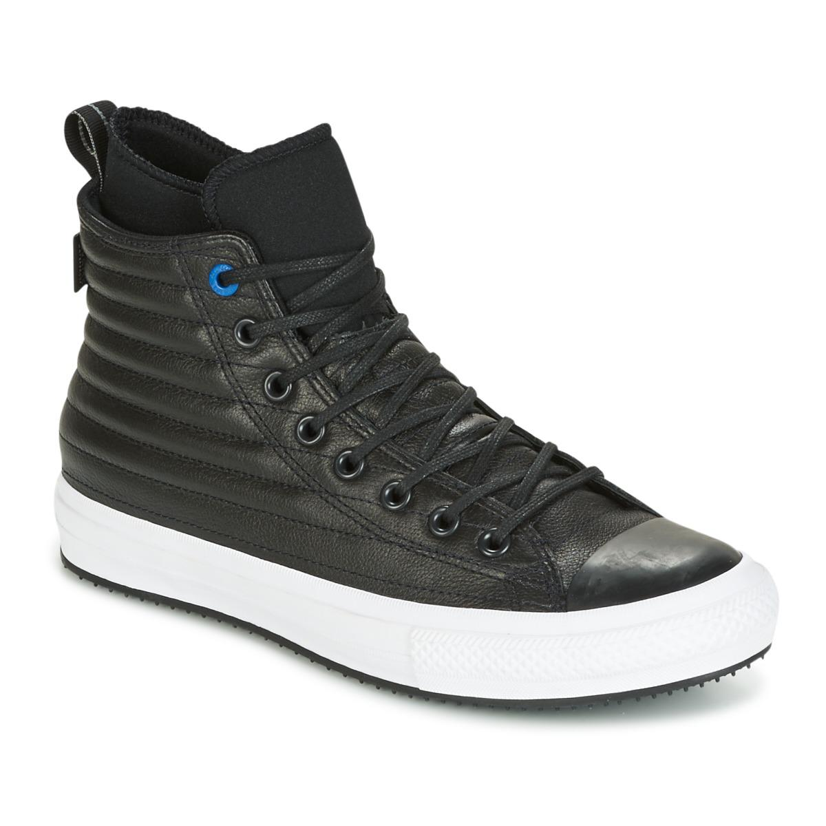 Converse Chuck Taylor Wp Boot Quilted Leather Hi Black/blue Jay