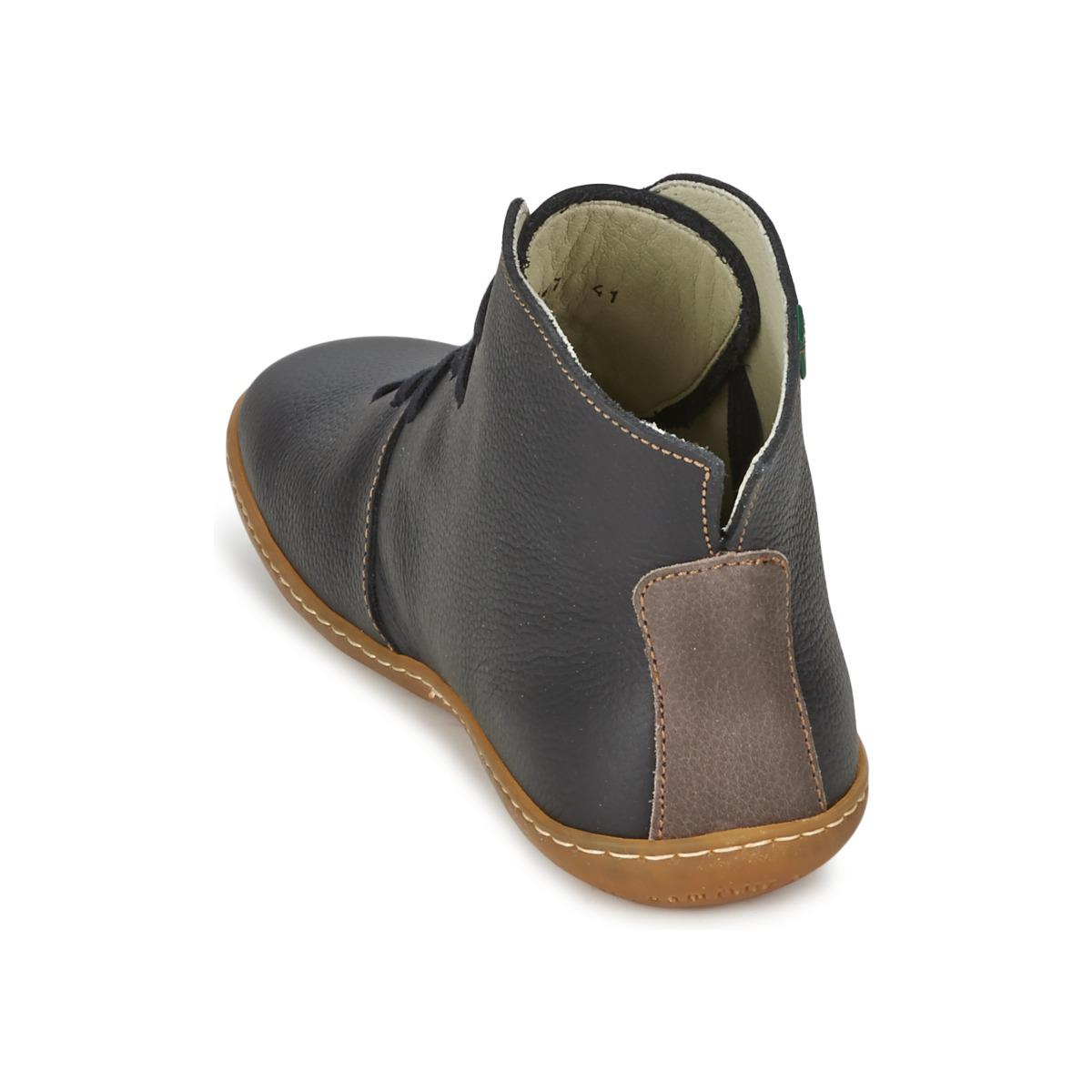 El Naturalista Leather El Viajero Women's Mid Boots In Black