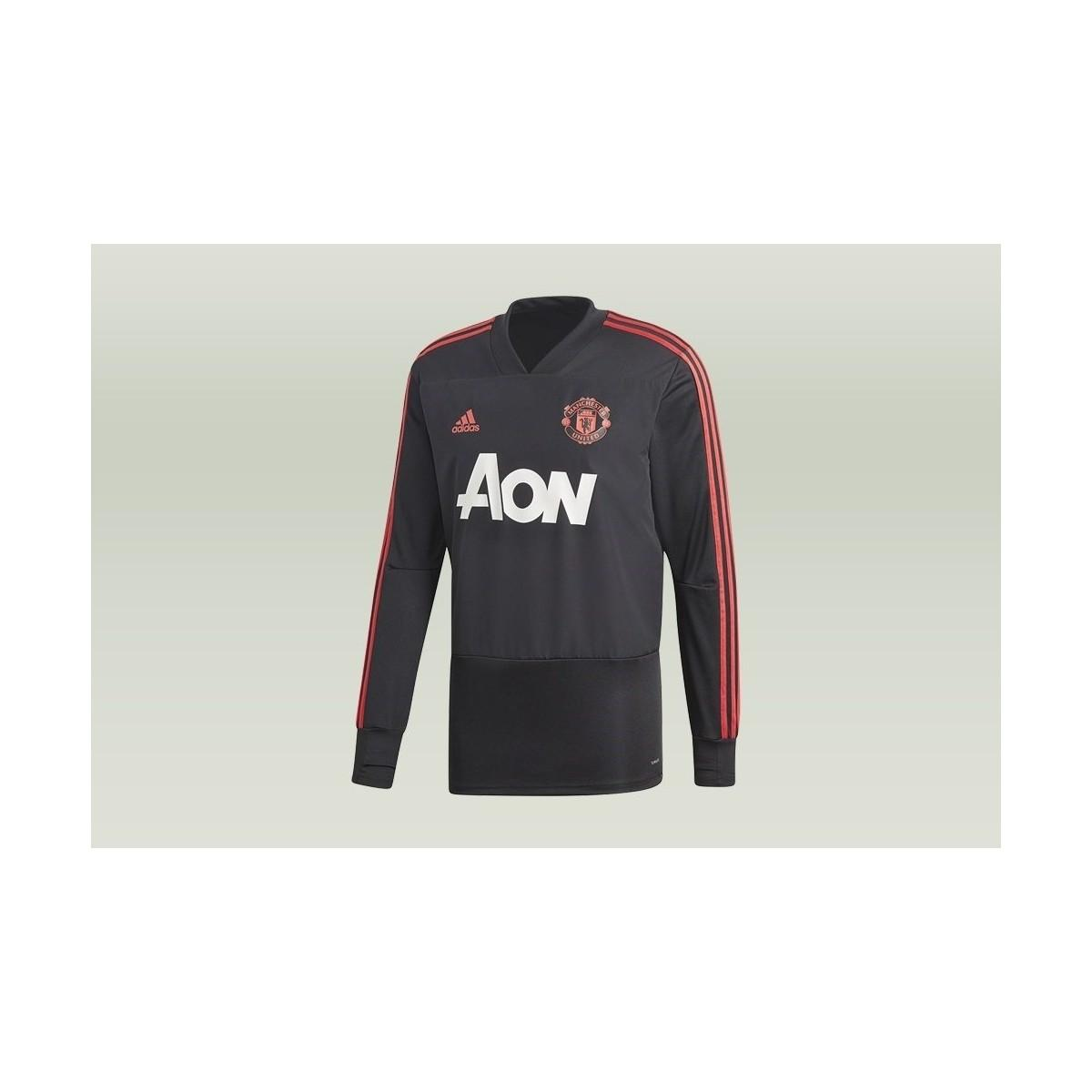 80a3c386 adidas Manchester United Trening Top Men's In Black in Black for Men ...