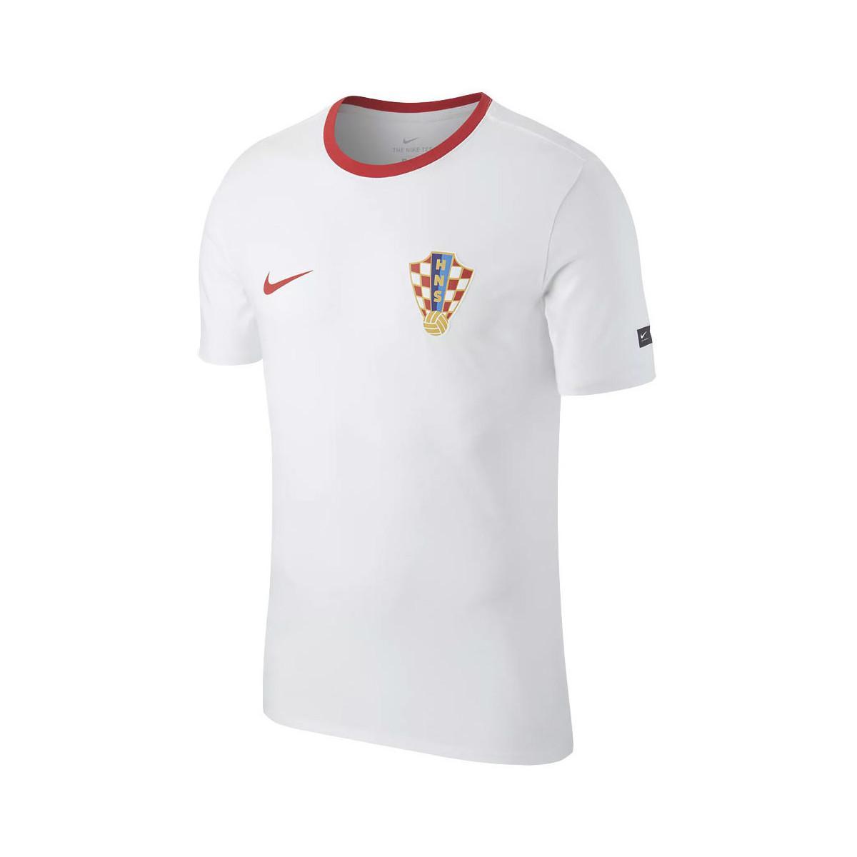 00ee49f9 Nike 2018-2019 Croatia Crest Tee Women's T Shirt In White in White ...