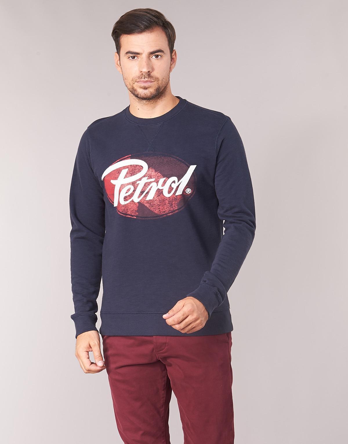 Petrol Industries Sweater Betwina in het Blauw voor heren