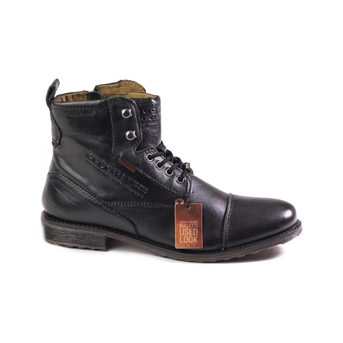 Fox Mens Bugatti /'Used Look/' Casual Ankle Boots Style