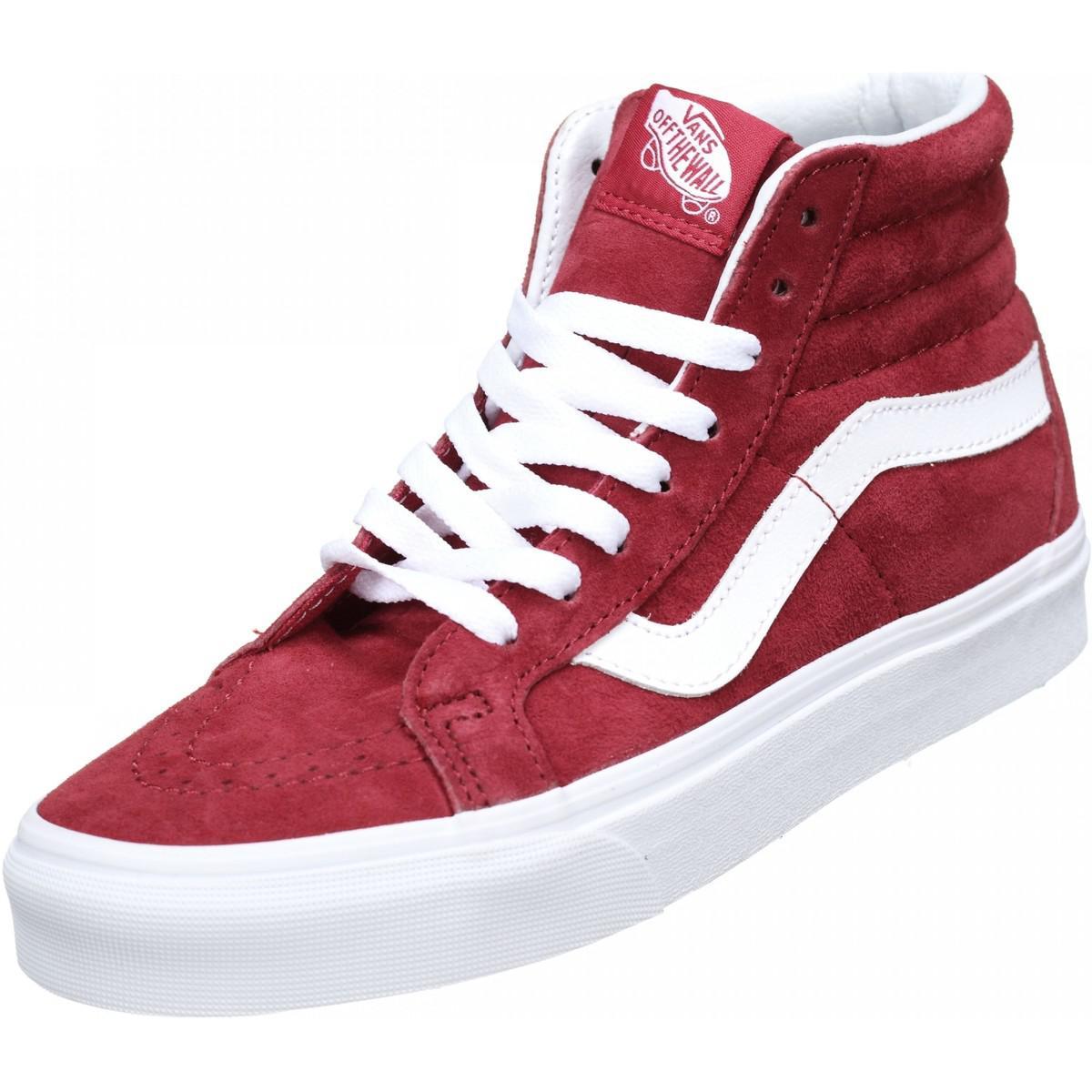 vans femme chaussure rouge