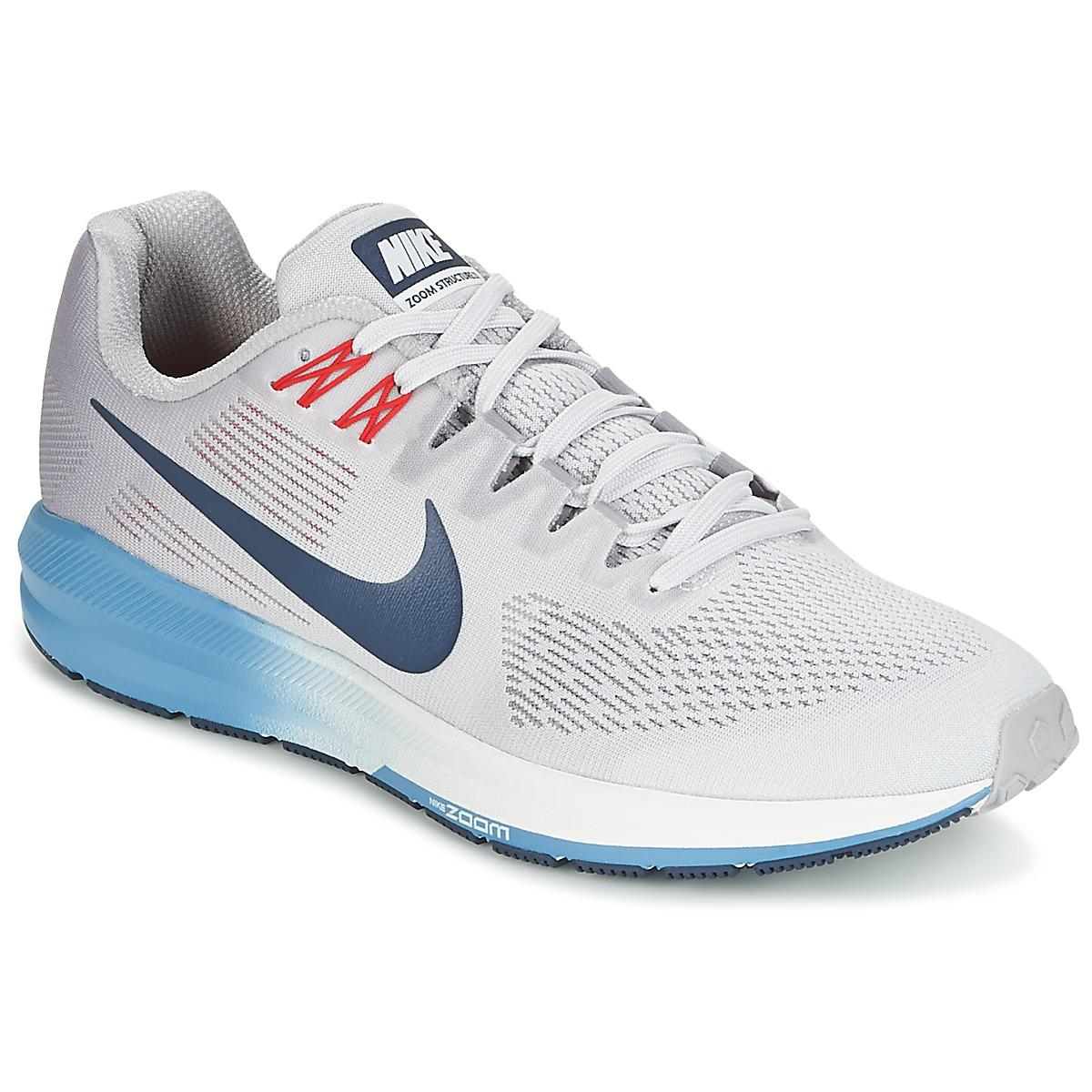 932e477b74dc Nike Air Zoom Structure 21 Men s Running Trainers In Grey in Gray ...