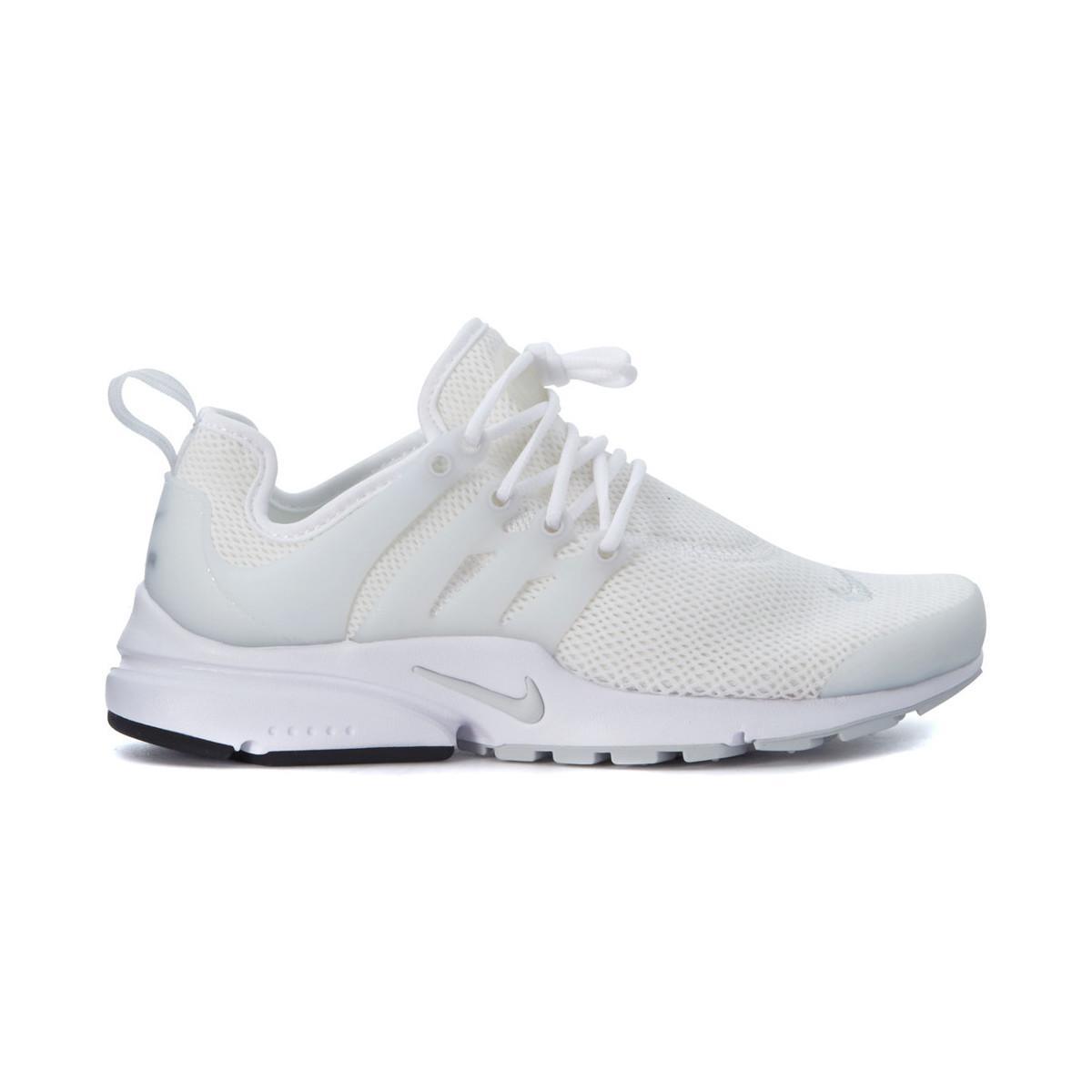 buy online ab214 6bf7d Nike Sneaker Air Presto In White Elastic Mesh Women s Trainers In ...