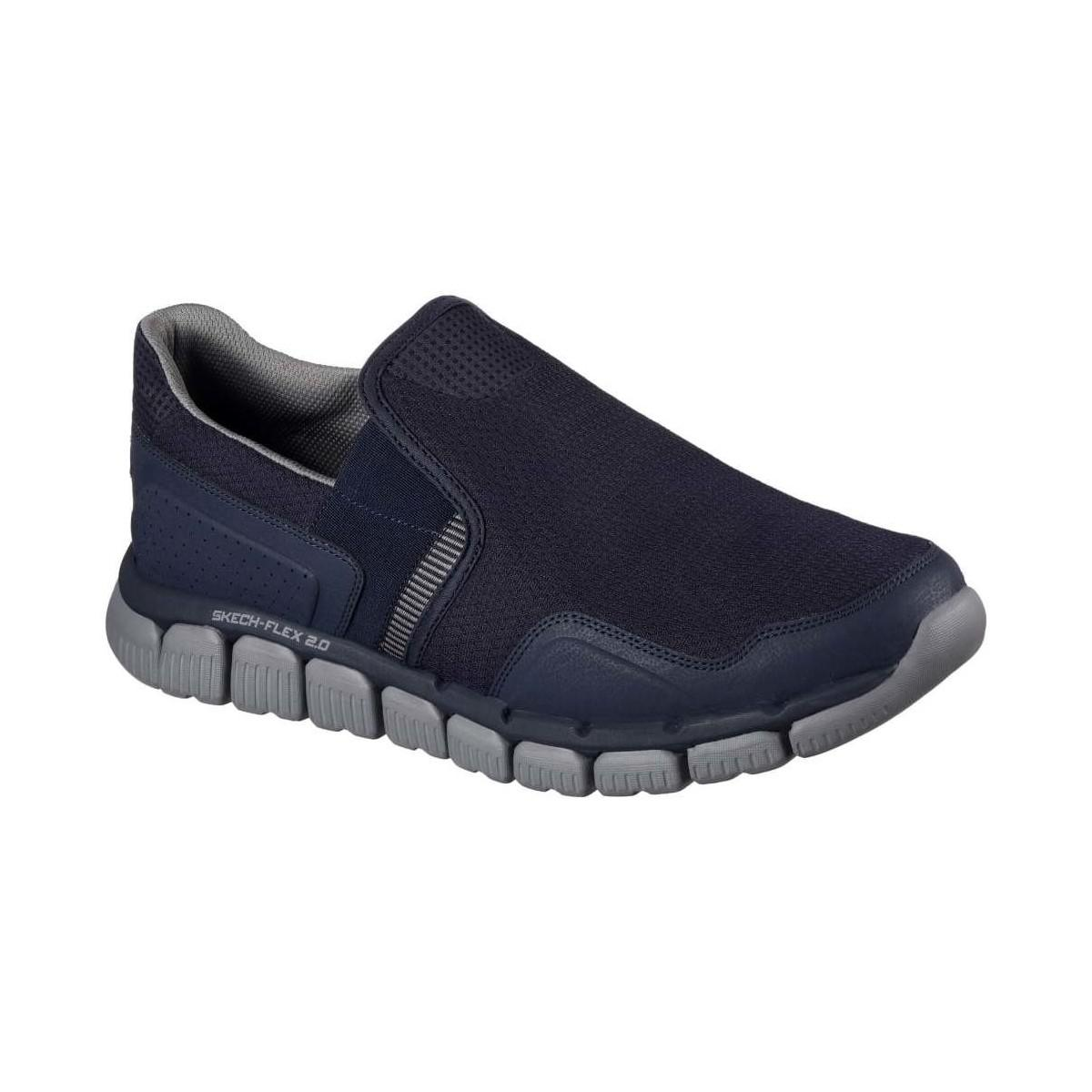 Skechers Skech Flex 2.0 Wentland Mens Slip On Sports Shoes in Navy/Grey (Blue) for Men