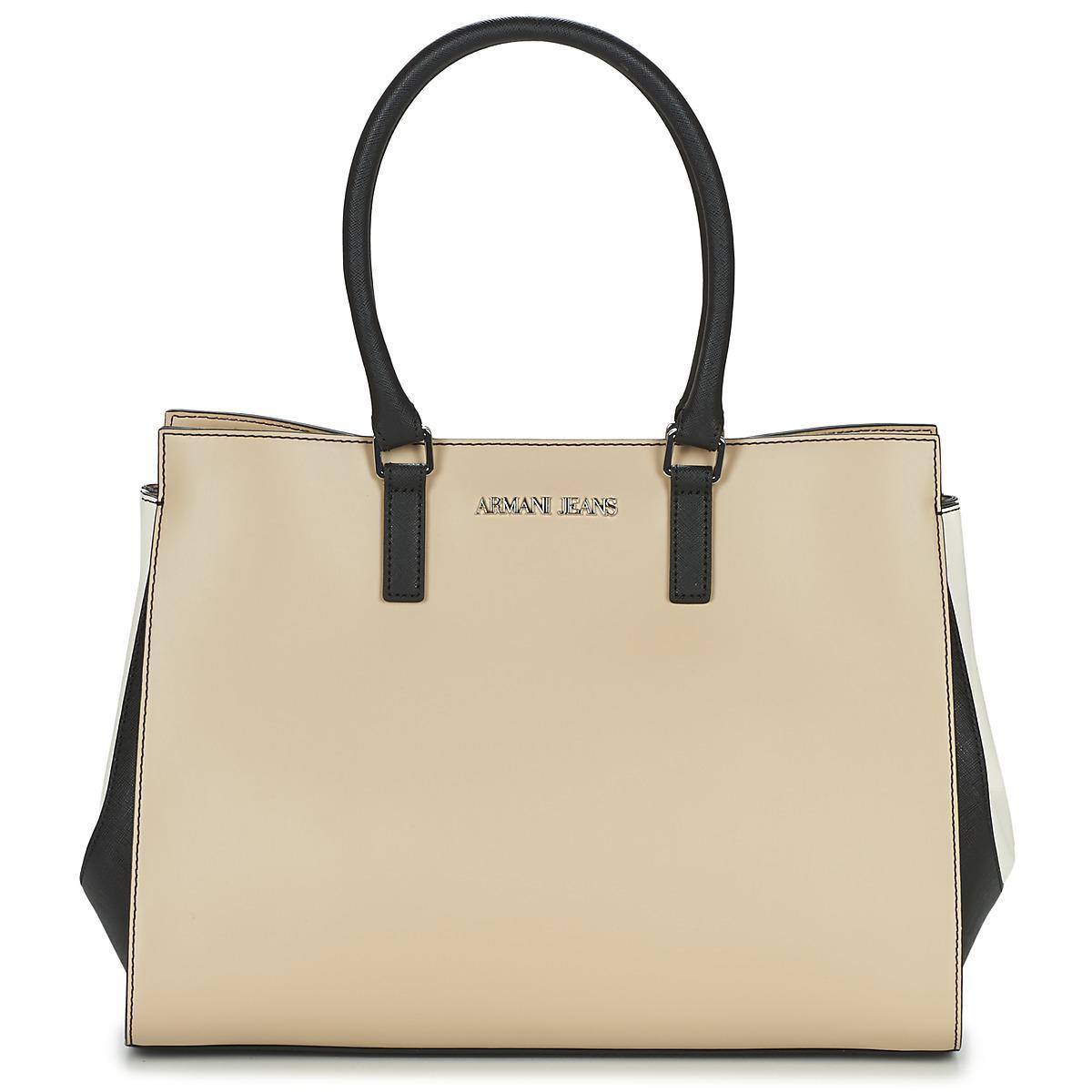 Armani Jeans Javotta Women s Shoulder Bag In Beige in Natural for ... e556adf812a0b