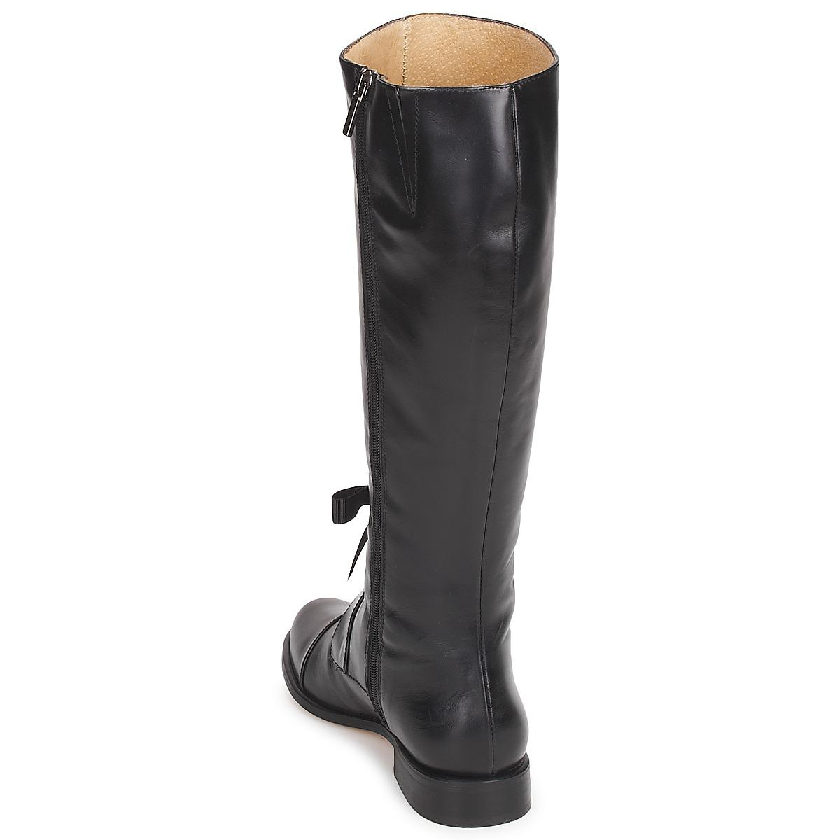 Fericelli Leather Maura High Boots in Black