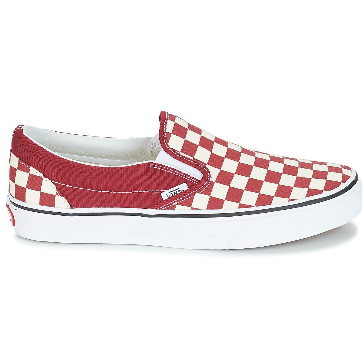 CLASSIC SLIP-ON femmes Chaussures en rouge