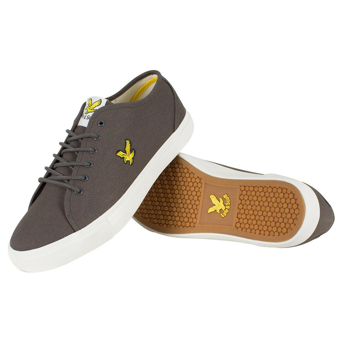 Lyle & Scott Men's Teviot Twill Trainers, Grey Men's Shoes (trainers) In Grey in Grey for Men
