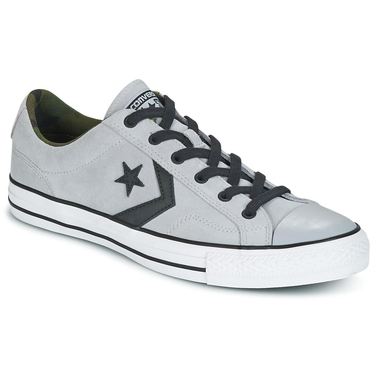 3d6d7b4f888 Converse Star Player Ox Camo Suede Men s Shoes (trainers) In Grey in ...