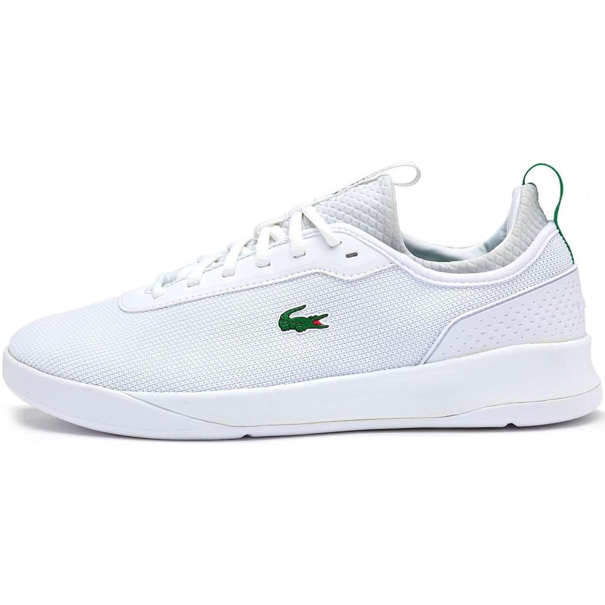 9a9c7da55949 Lacoste Lt Spirit 2.0 317 1 Spm Trainers In White Green 734spm0024 ...