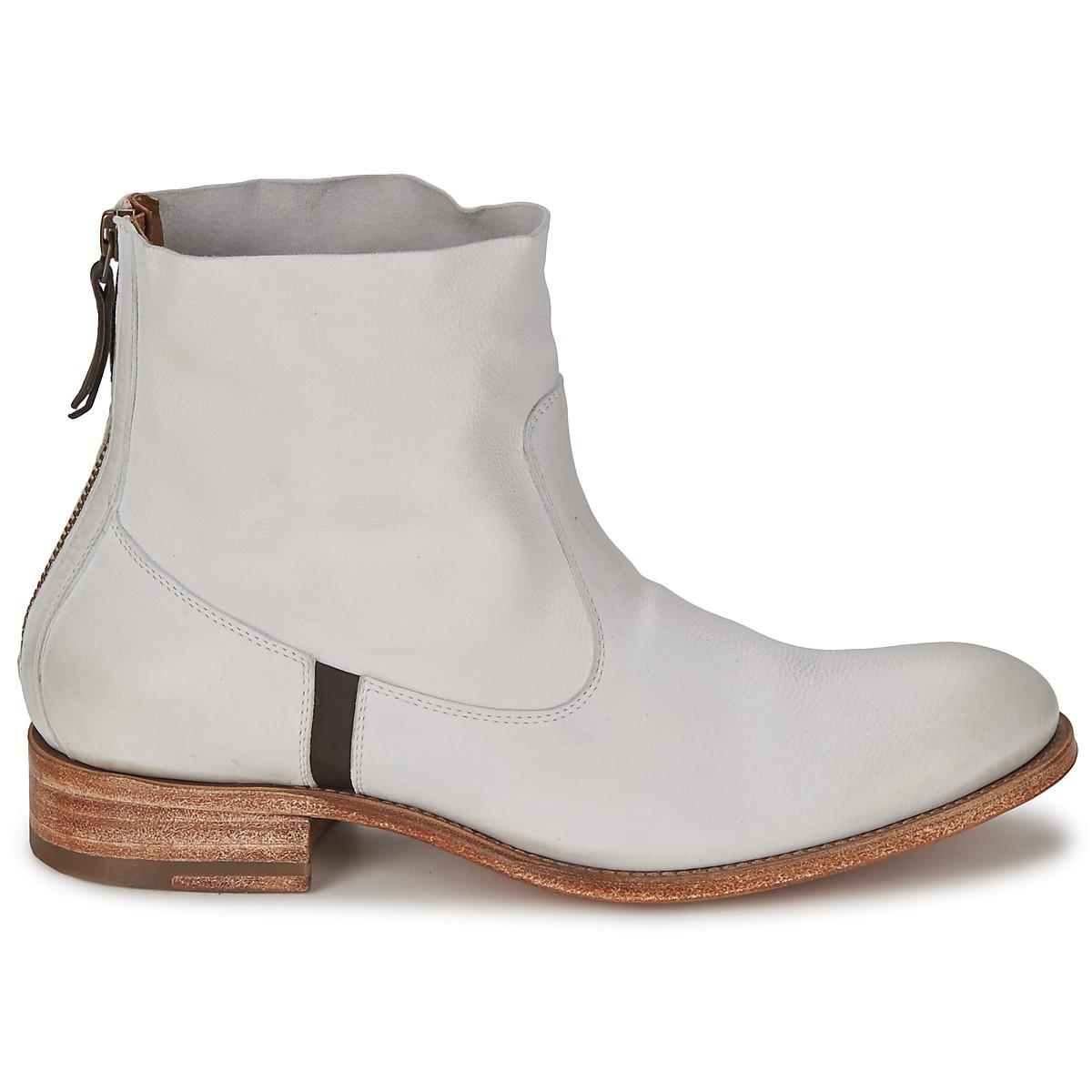 NDC Leather Sylvia Oxide Mid Boots in White