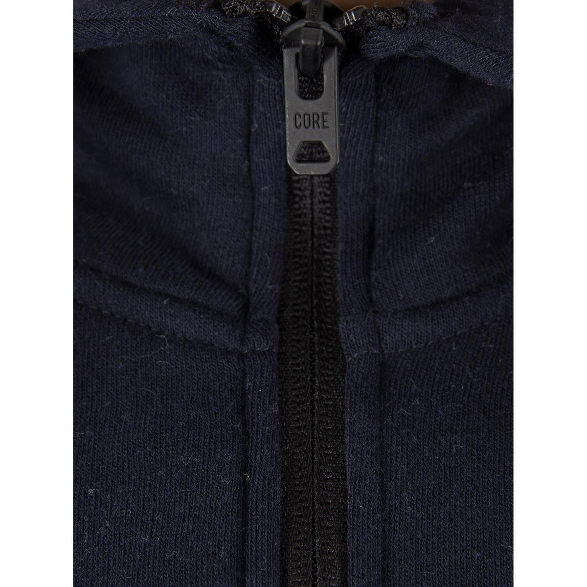 Jack & Jones Men's Norton Zip Hoodie, Blue Men's Sweatshirt In Blue for Men