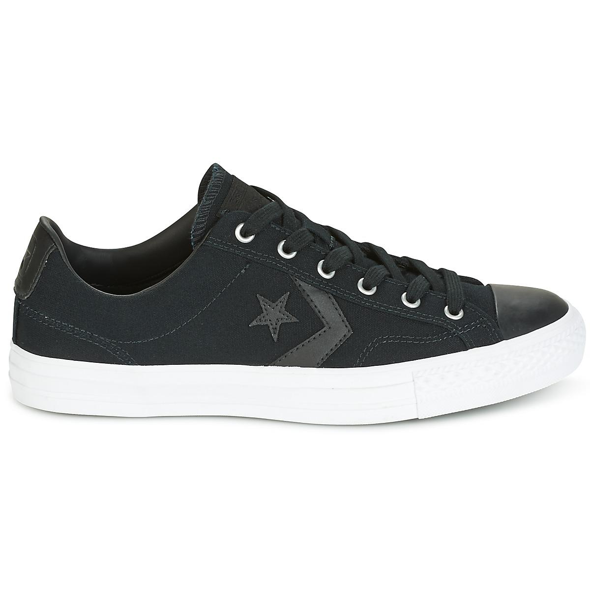 06d47054a43 Converse - Star Player Canvas With Gum Ox Black black white Men s Shoes (.  View fullscreen