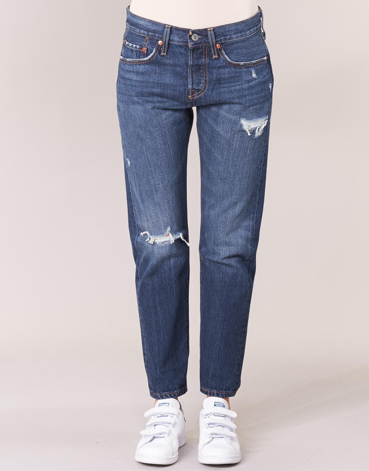 Levi's Denim 501® T Boyfriend Jeans in Blue