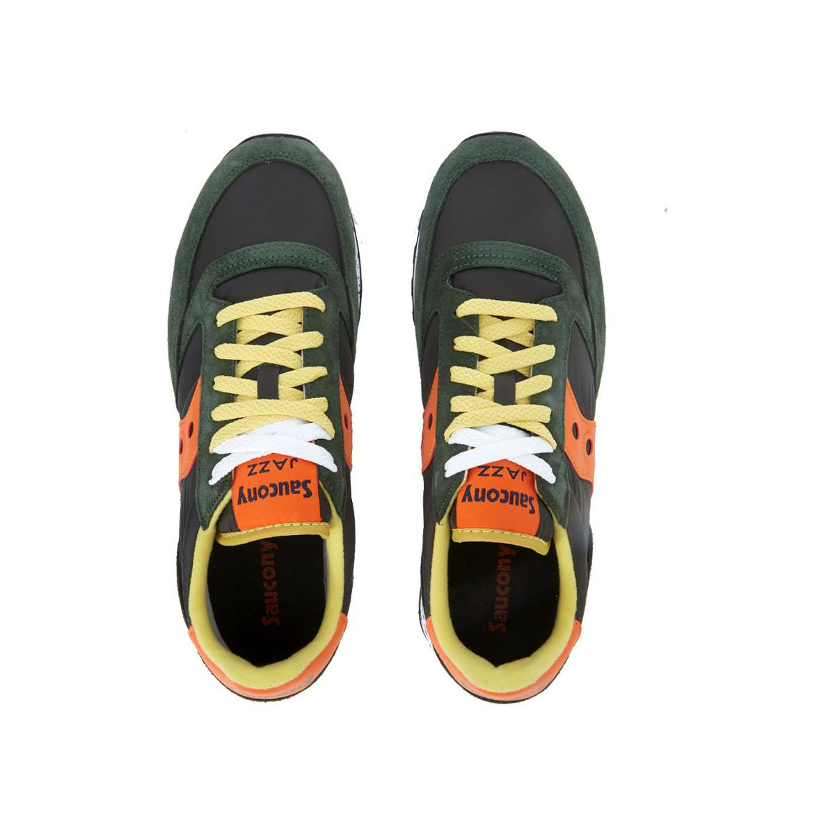 Saucony Suede Jazz Green And Orange Sneaker Women's Shoes (trainers) In Green