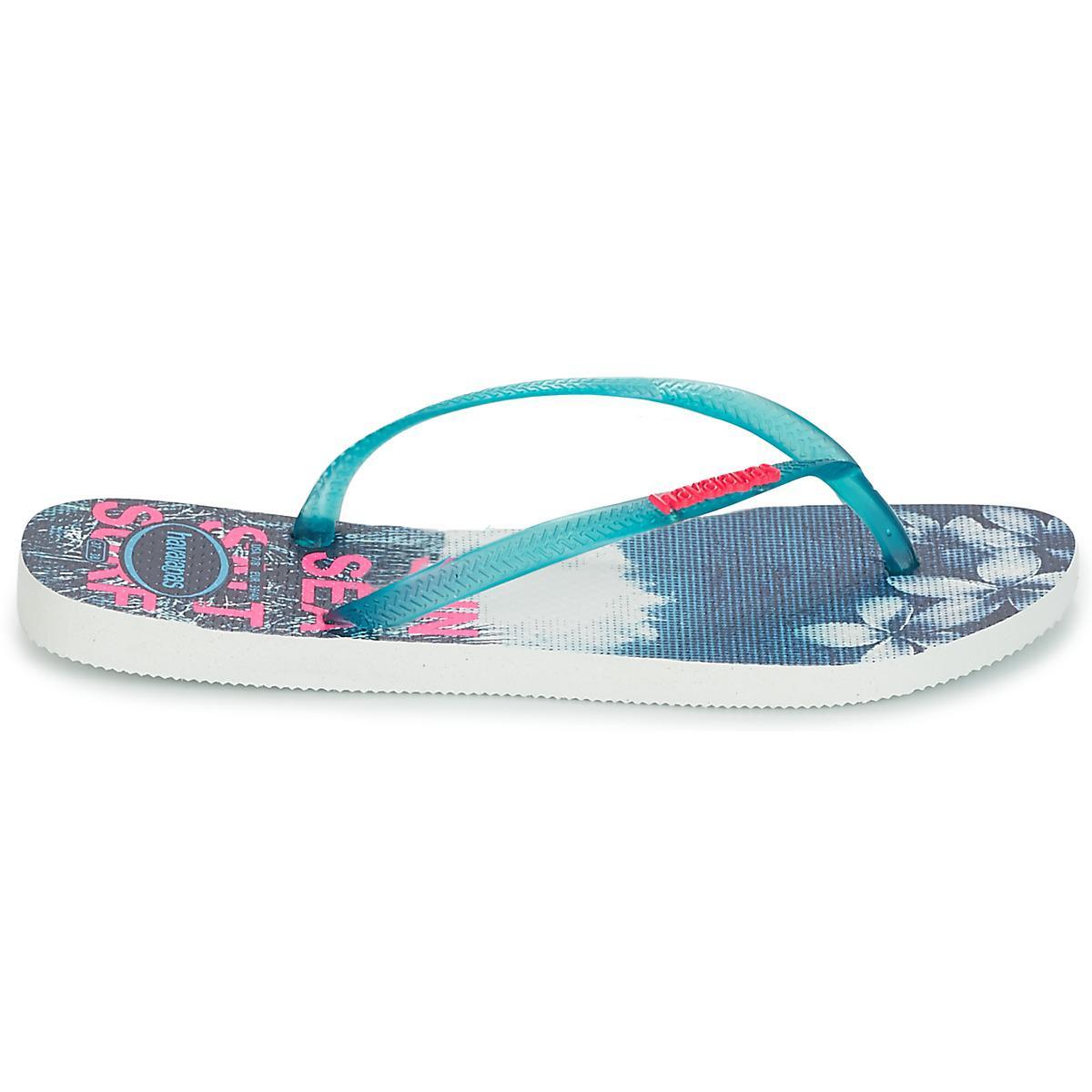 be63d66a7a2a Havaianas Slim Paisage Flip Flops   Sandals (shoes) in Blue - Lyst