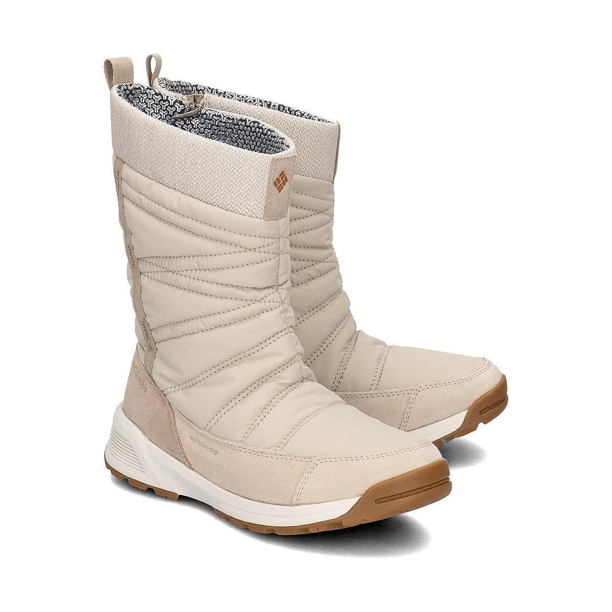 d98f9bd90483 Columbia Meadows Slip On Omni Heat 3d Women's Snow Boots In Beige in ...