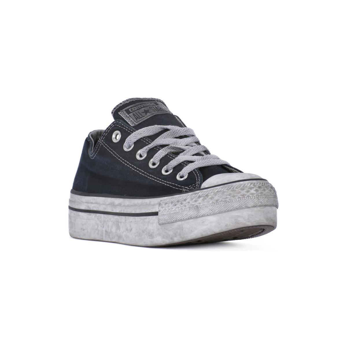 c6297f6a6d4a Converse All Star Platform Ox Black Smoke Women s Shoes (trainers ...