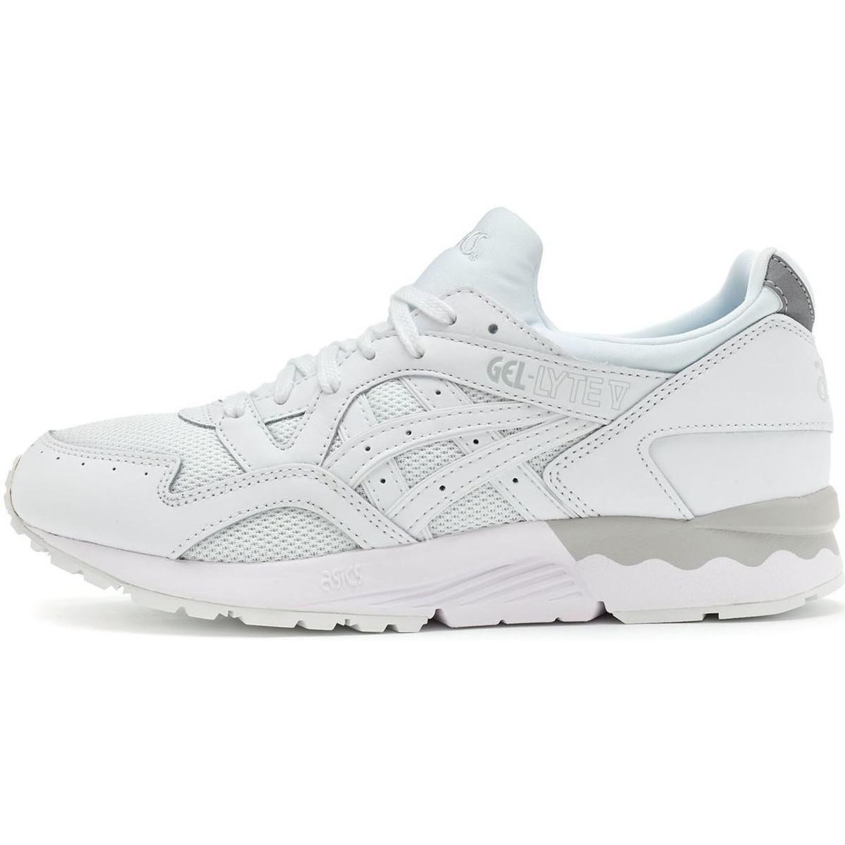 finest selection 418f0 e096e Asics Gel Lyte V Trainers In White Hl6g3 0101 Women's Shoes ...