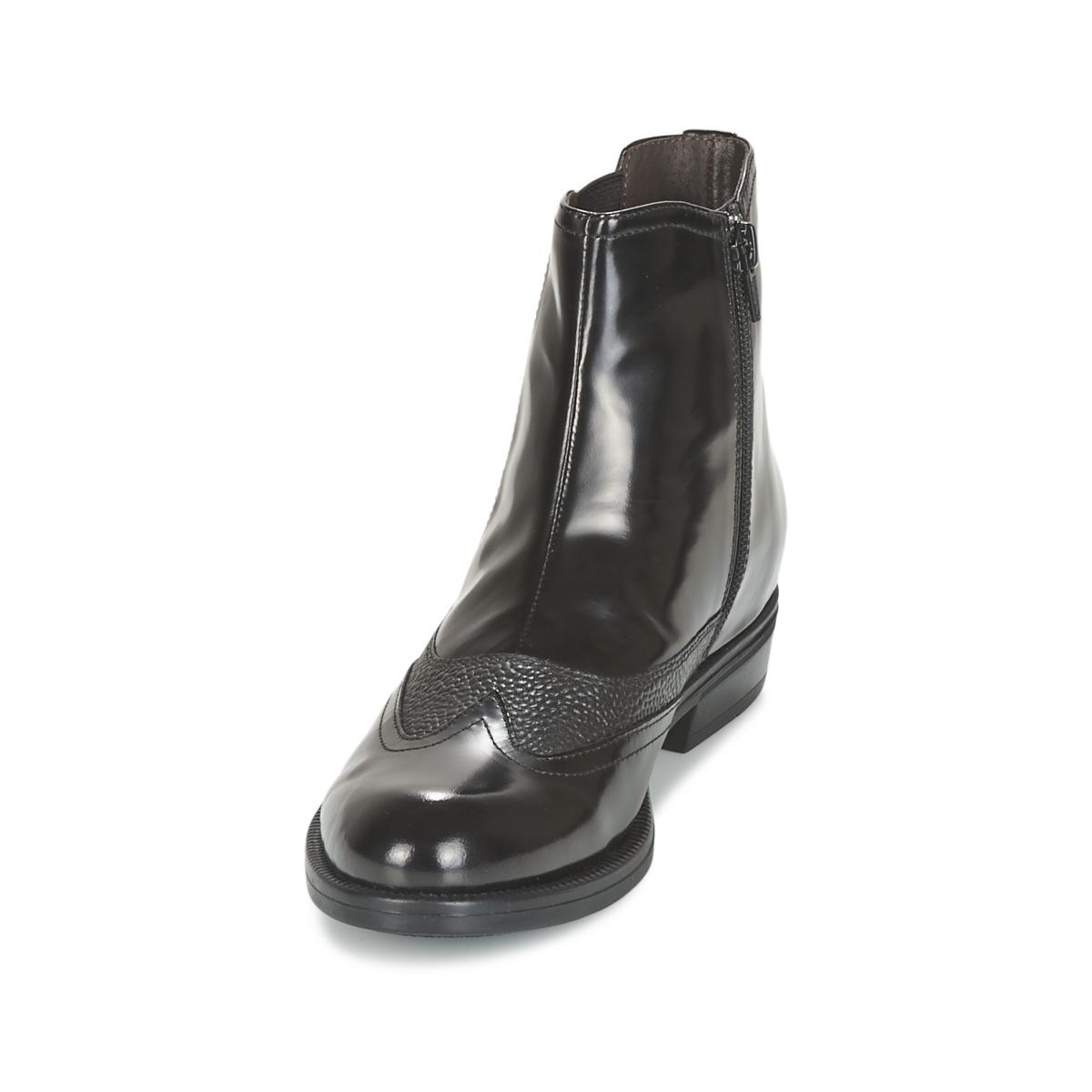 Stonefly Leather Clyde 15 Women's Mid Boots In Black