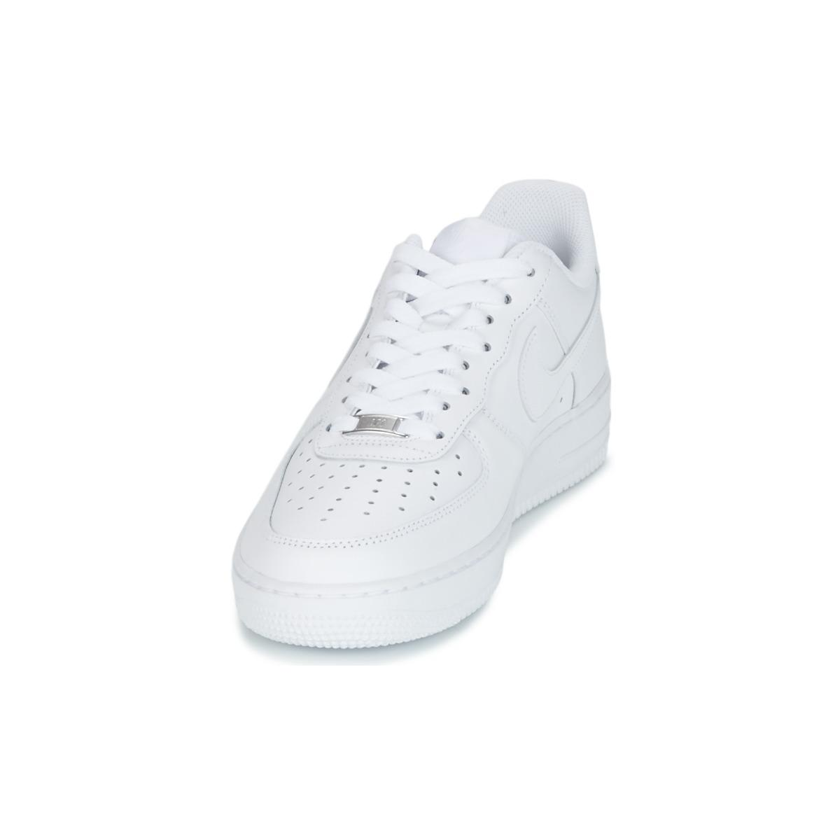 Nike Leather Air Force One Men's Shoes (trainers) In White for Men