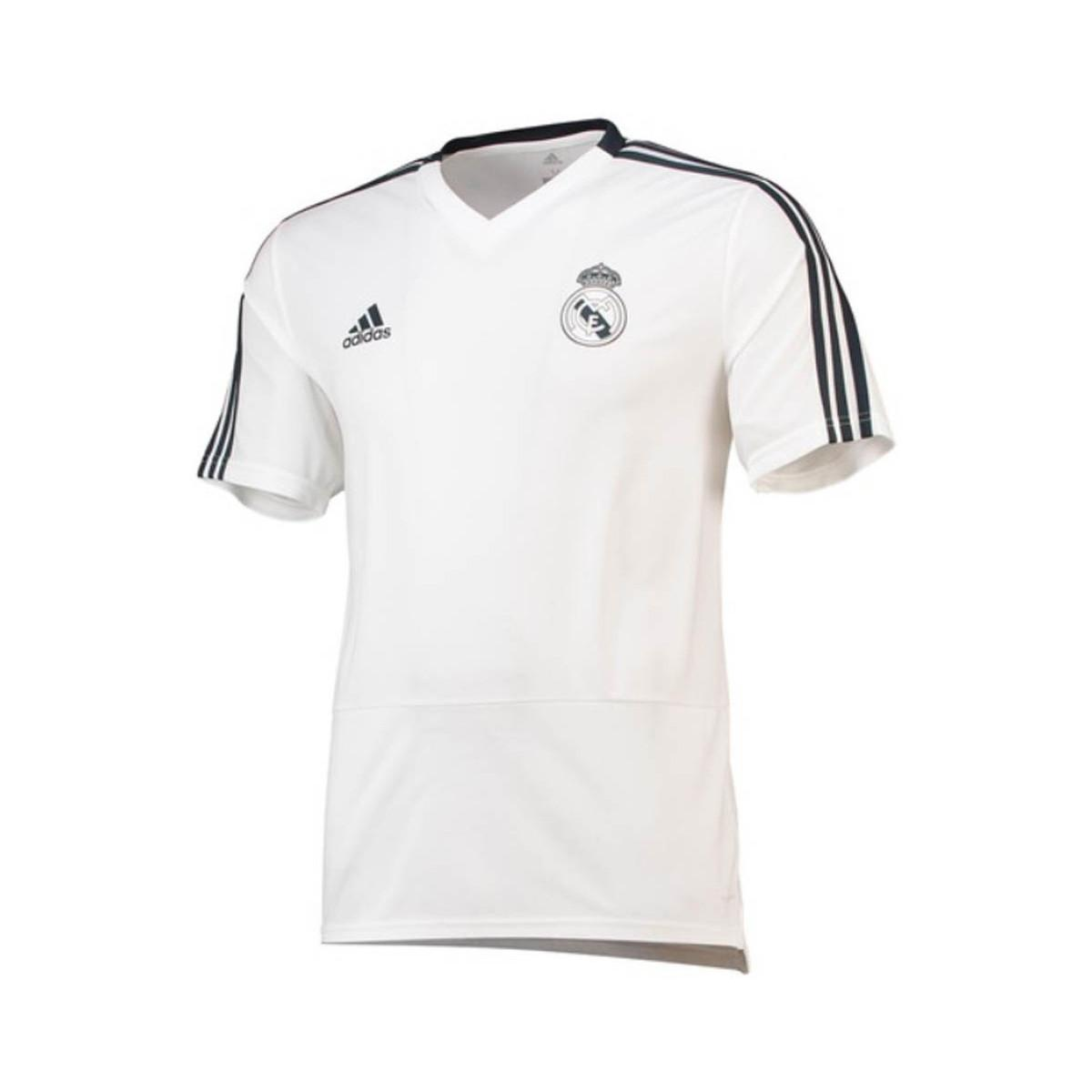 Adidas 2018-2019 Real Madrid Training Shirt Men s In White in White ... bcd5152c4