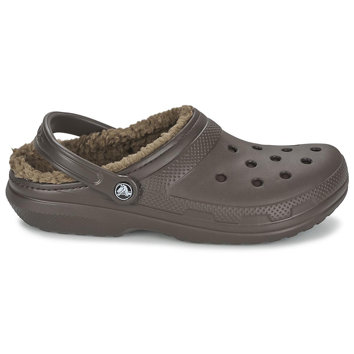 483c3c1b96c Crocs™ - Brown Classic Lined Clog Clogs (shoes) - Lyst. View fullscreen
