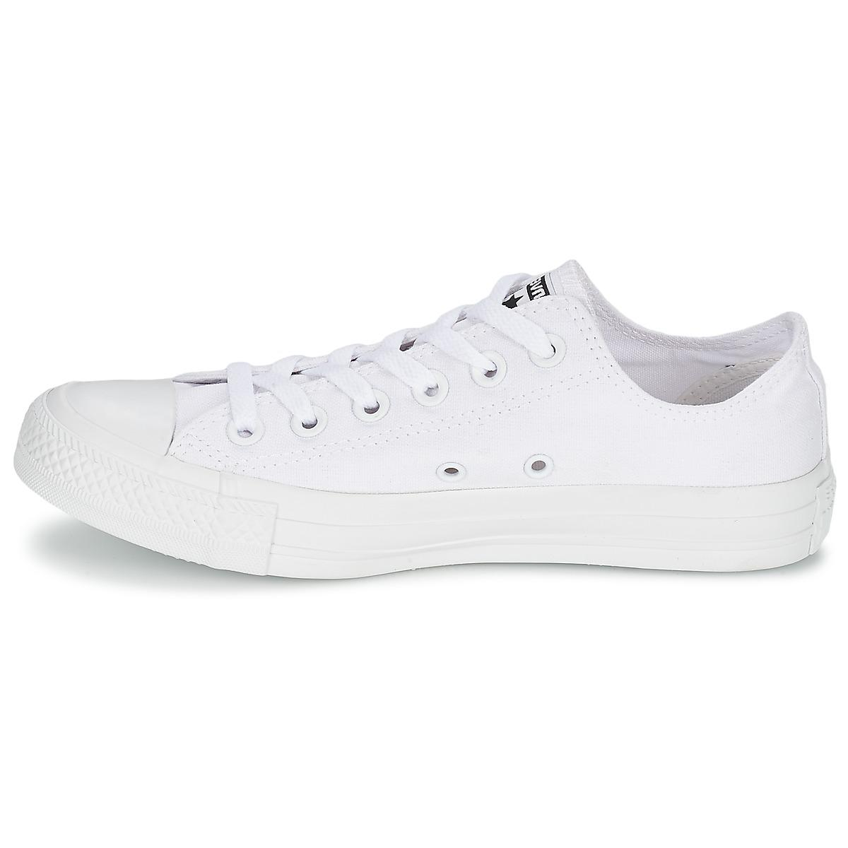 Converse All Star Monochrome Ox Men's Shoes (trainers) In White for Men