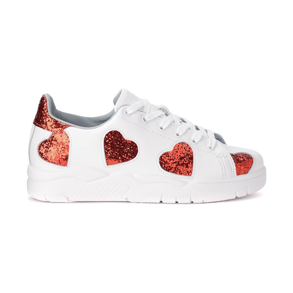 Chaussures Cuir Pa Roger Des Lyst En De Coeurs Blanc Basket Avec ZIUIxwp