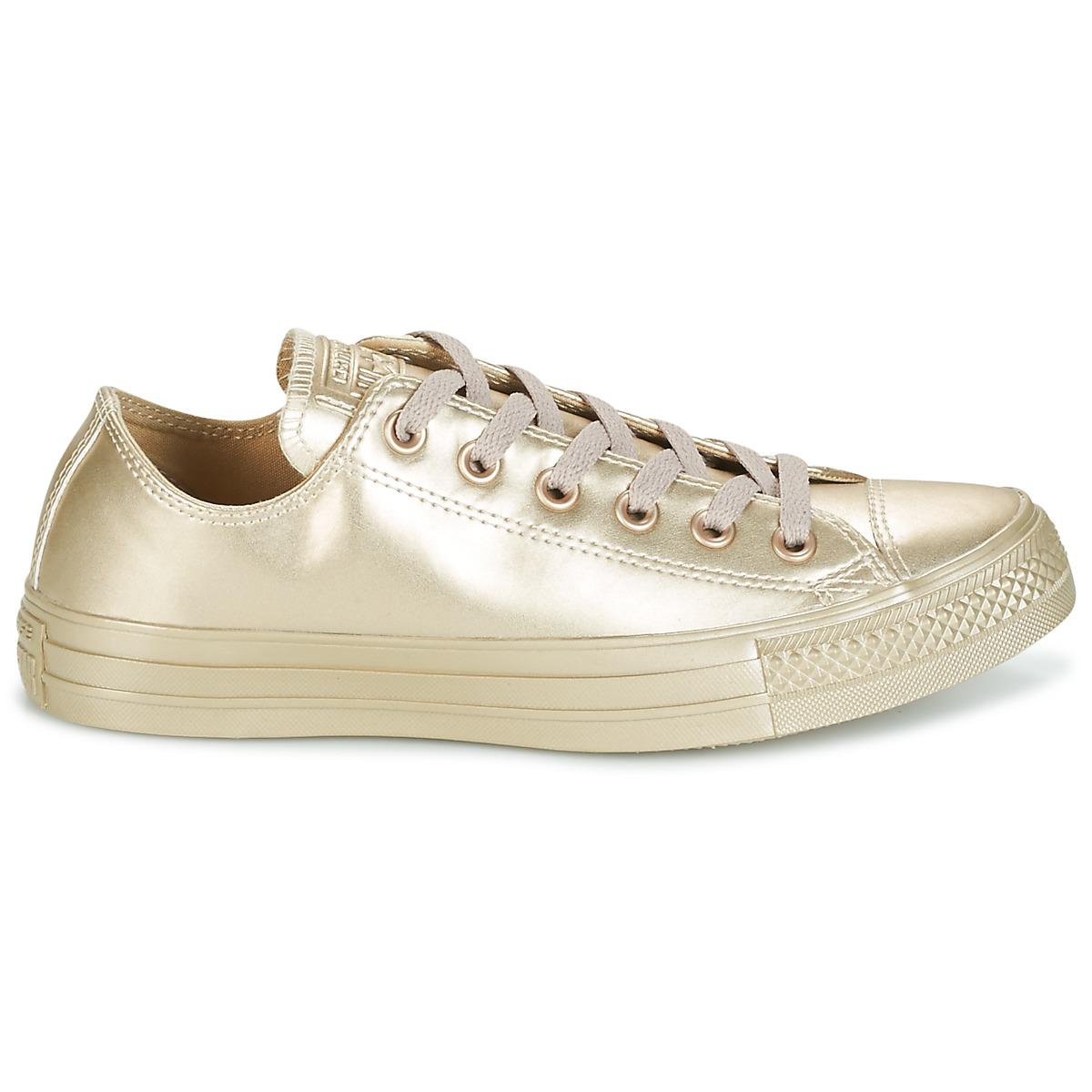 acc10bba22d4 Converse - Chuck Taylor All Star Liquid Metallic Ox Liquid Metallic Ox Gold  Women s Shoes (. View fullscreen