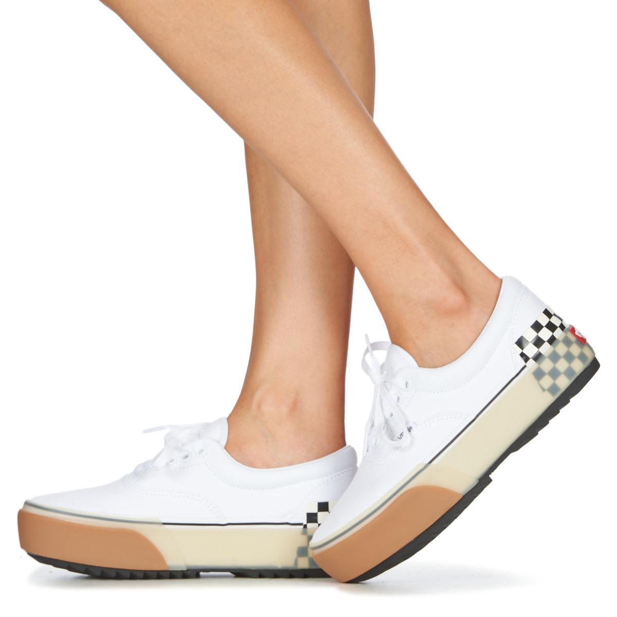 Chaussures Era Stacked Toile Vans en coloris Blanc - 35 % de ...