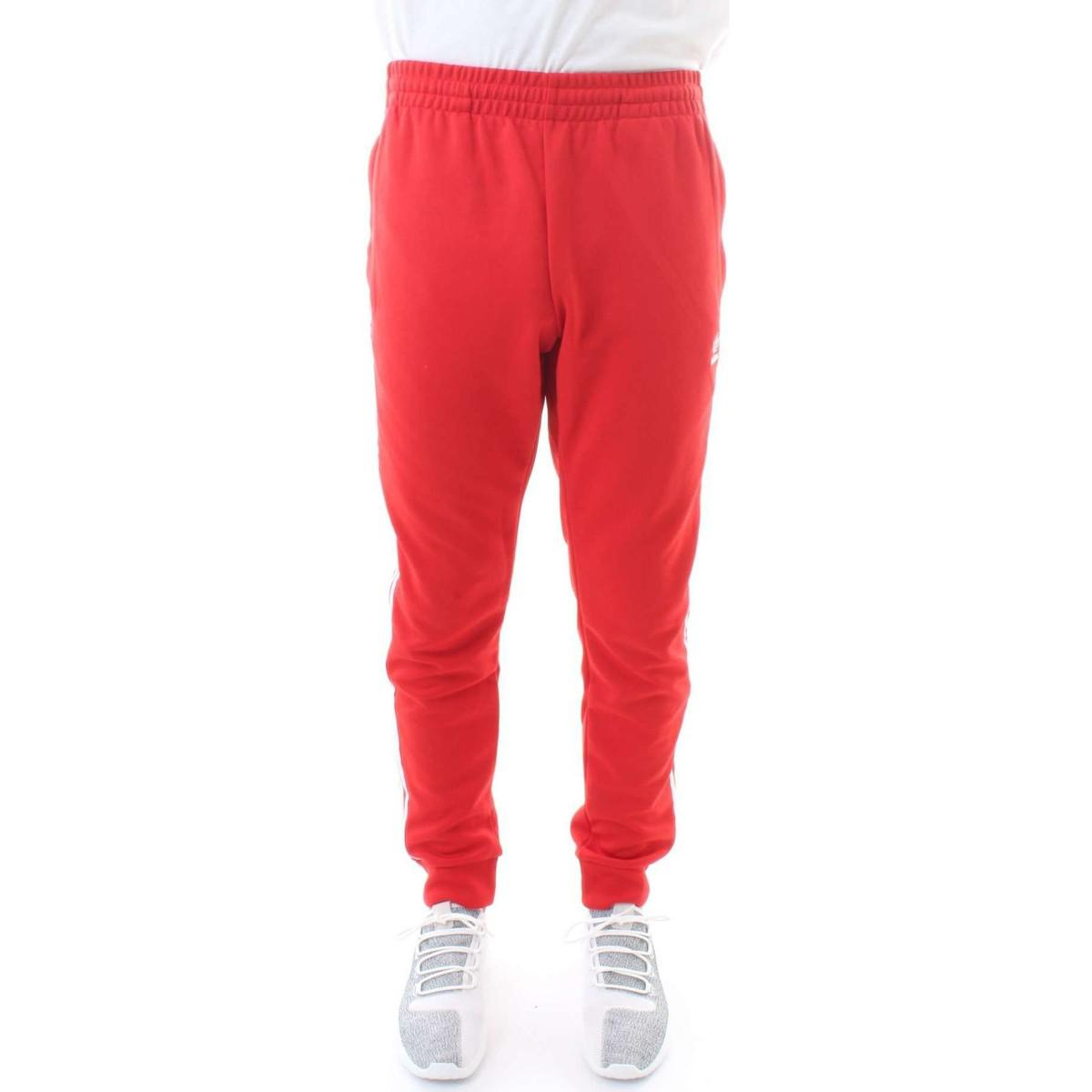 jogging rouge adidas homme