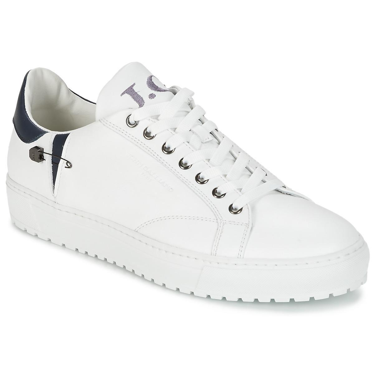 John Galliano 4752 Weiss Schuhe Sneaker Low Herren 245