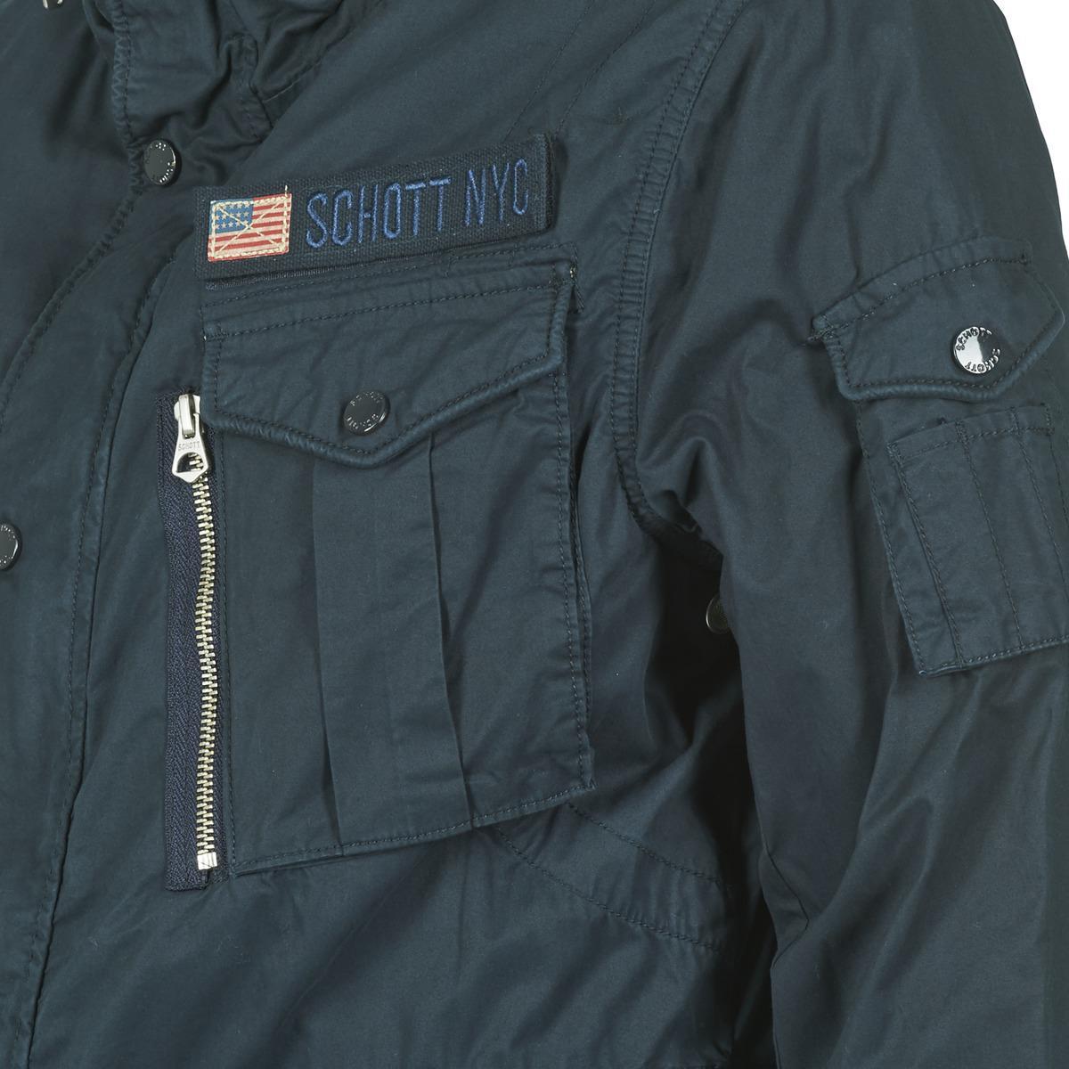 Schott Nyc Squad Jacket in Blue for Men