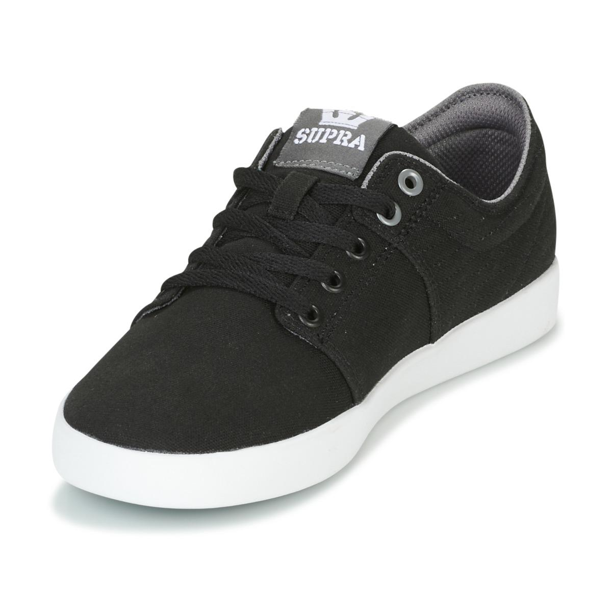 Supra Leather Stacks Ii Men's Shoes (trainers) In Black for Men