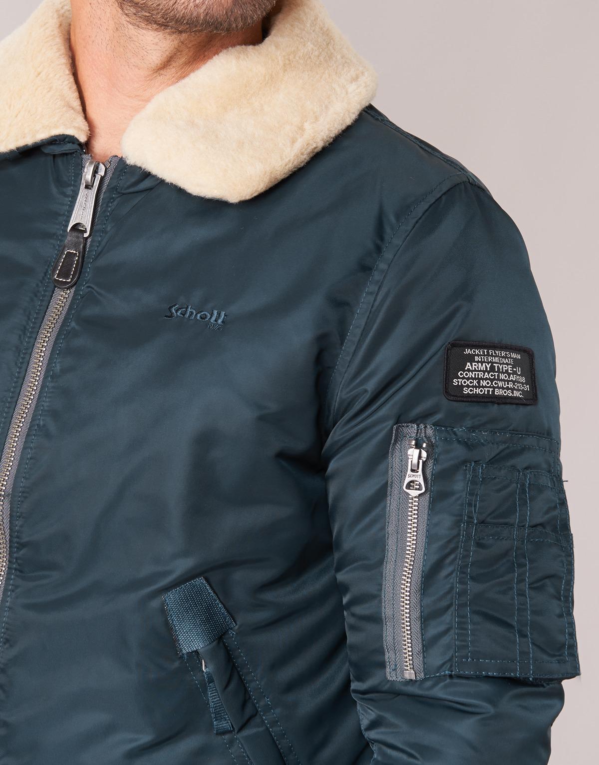 Schott Nyc Pilote Men's Jacket In Blue for Men