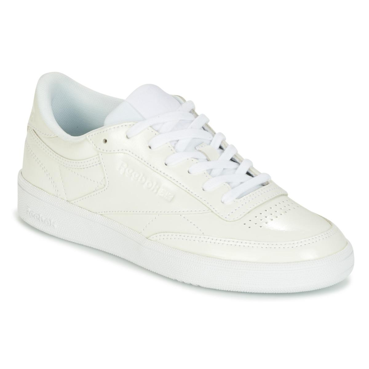 57b19992648 Reebok Club C 85 Patent Shoes (trainers) in White - Lyst