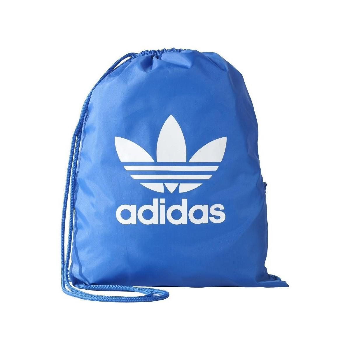 Adidas - Blue Gymsack Trefoil Women s Bag In Multicolour - Lyst. View  Fullscreen 0aea285e368eb