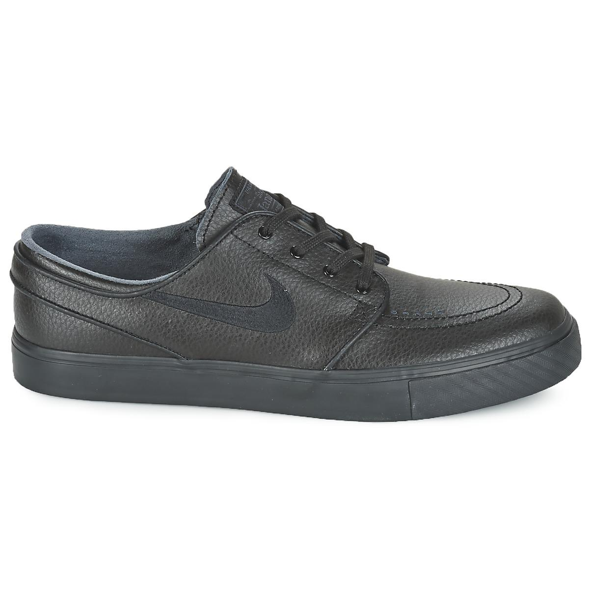 Nike Sb Air Zoom Stefan Janoski Leather Men's Shoes (trainers) In Black for Men