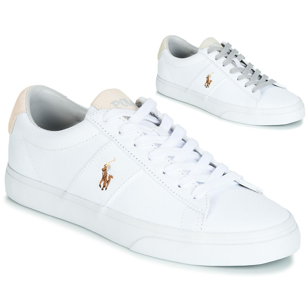 b7857509d91 Polo Ralph Lauren Sayer Men s Shoes (trainers) In White in White for ...
