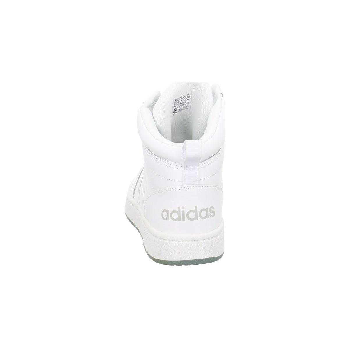adidas Cloudfoam Super Hoops Mid Sneaker Men's Shoes (high-top Trainers) In White for Men
