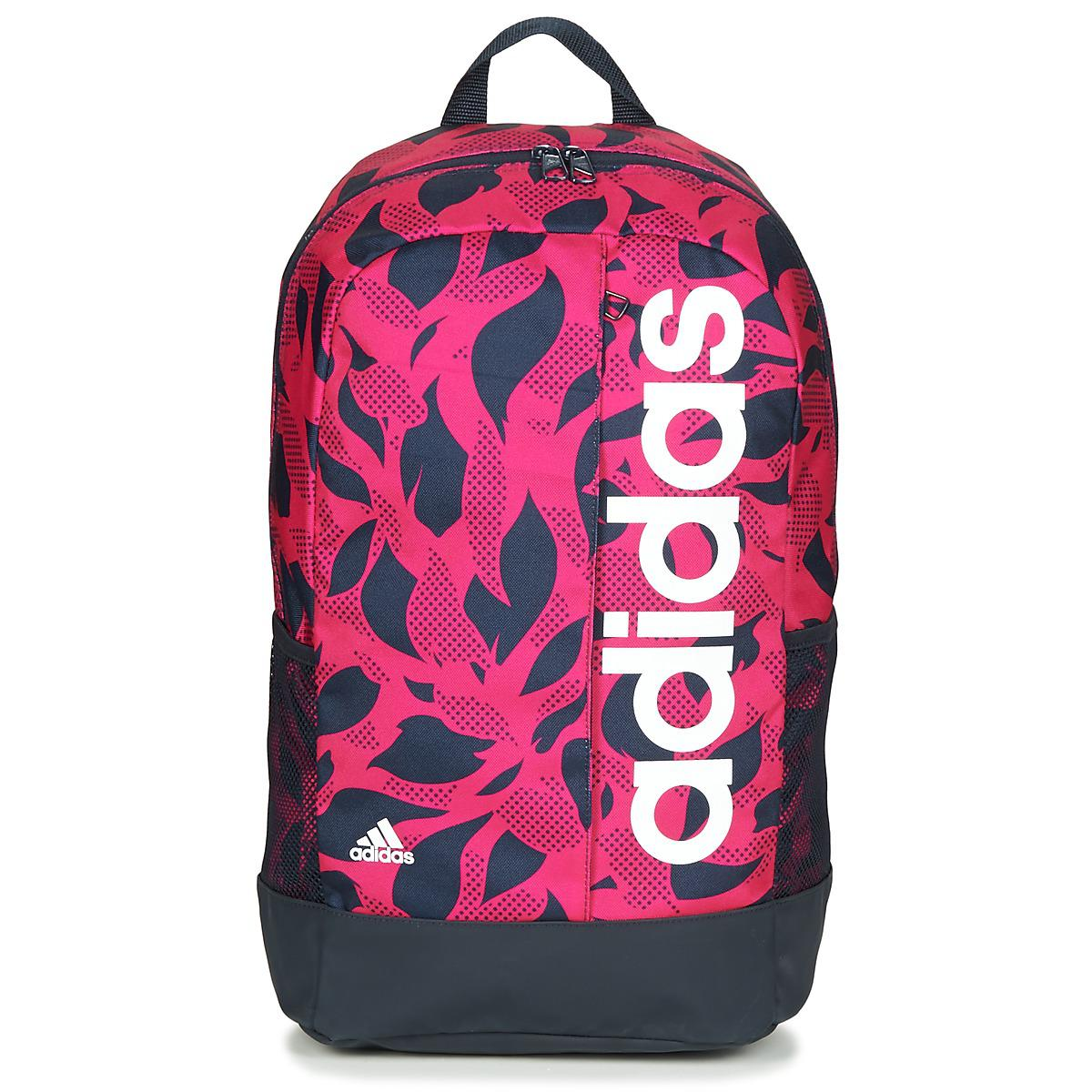 adidas Linear Bp W Gr Backpack in Pink for Men - Lyst fcc52f331cc5b