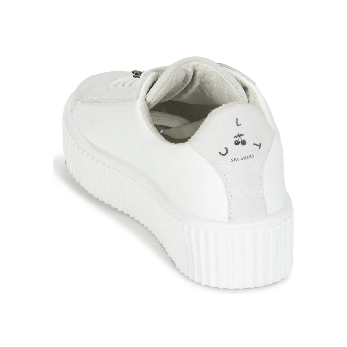 Le Temps Des Cerises Leather Talys Women's Shoes (trainers) In White